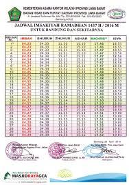 Jadwal Sholat Jogja Jadwal Sholat Dan Imsak Kabupaten Bandung Ramadhan 2017 M 1438 H