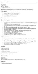 Taxi Driver Resume Home Design Ideas Volunteer Resume Example Good Personal