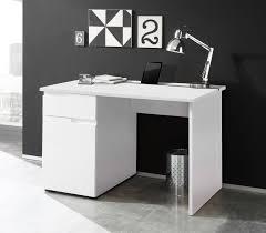 Schreibtisch Buche Massiv H Enverstellbar Schreibtisch Mit Fronten In Hochglanz Weiß Korpus Weiß Matt 1