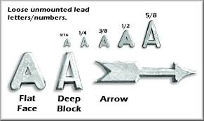 lead letters markers holders name