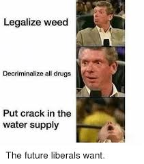 Legalize Weed Meme - legalize weed decriminalize all drugs put crack in the water