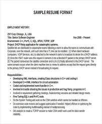 Sample Resume Format For Software Engineer by 47 Engineering Resume Samples Free U0026 Premium Templates