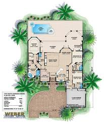 mediterranean style floor plans santa barbara home plan mediterranean style and house