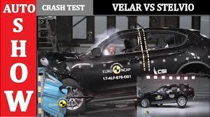 2018 range rover velar vs alfa romeo stelvio crash test