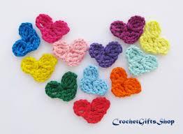 crocheted heart pattern set applique garland wedding motif pattern
