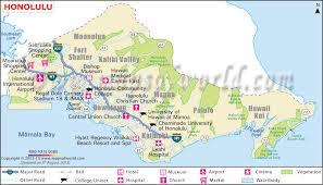map of hawaii cities honolulu map the capital of hawaii honolulu hawaii map