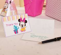 minnie mouse printable thank you notes disney baby