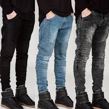 mens biker style boots 2017 wholesale streetwear mens ripped biker jeans homme men u0027s