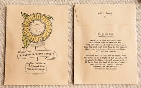 sunflower seed packets 10 hen party personalised seed packet favours by wedding in a