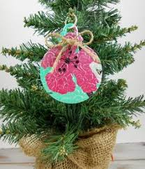 flower ornament recycled soda pop can embossed dr