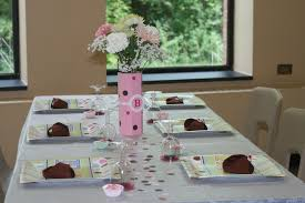 exciting baby shower table decorating ideas with birthday cake