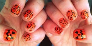 Halloween Nail Art Pumpkin - ever so juliet uk lifestyle beauty u0026 baking blog how to