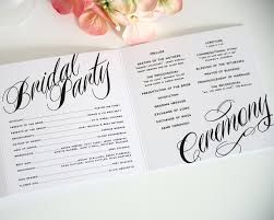 wedding programs paper ravishing script tri fold wedding programs sle in black and
