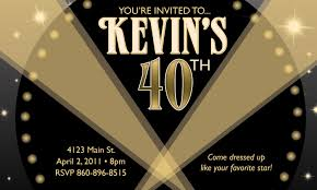 custom personalized hollywood theme birthday party invitation