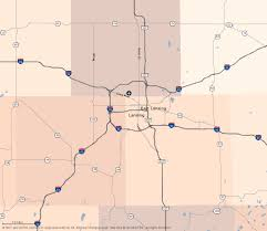 Illinois Road Construction Map by Travel Midwest Lansing Map