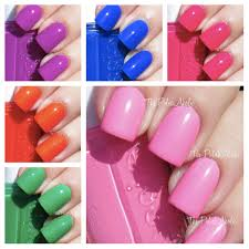 the polishaholic essie neon 2013 collection swatches u0026 review