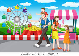 vector illustration fantasy sweet food land stock vector 117909214