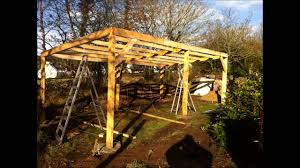 building an outdoor tractor shelter part 2 youtube