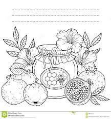autumn vector coloring page for adults black and white background