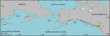 pacific region map map of the pacific region showing locations of tree ring