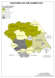 Map Of Yorkshire England by Regional Maps Of Rural Areas Census 2001 Region Yorkshire And