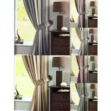 Whitworth Duck Egg Lined Curtains Dreams U0027n U0027 Drapes Whitworth Stripe Curtain Tie Backs Ebay