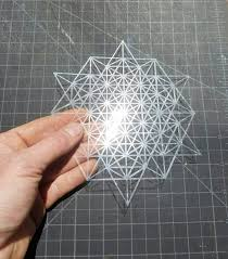 64 Best Moroccan Stencil And by Mini 64 Tetrahedron Grid Stencil Sacred Geometry
