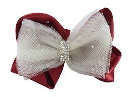 hair bow rhinestone embellishment hair bows