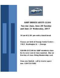 senior driving class aarp driving class oswego senior center