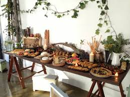 rustic buffet table design new decoration setting an rustic