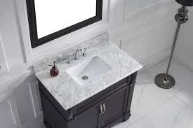 Bathroom Vanities With Marble Tops Virtu Usa 37 Single Bathroom Vanity Set With White