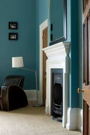 living room with walls in stone blue by farrow u0026 ball wall