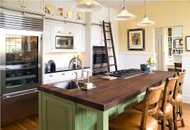 country kitchen island gray countertop white cabinets rustic country kitchen