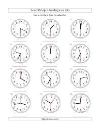 Free Time Worksheets Leer La Hora En Un Reloj Analógico En Intervalos De 30 Segundos A