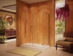 Wood Shower Door by Shower Doors Bathroom Frameless Enclosures