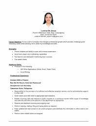 exle of resume objective sle resume objective marvelous sle resume objectives free