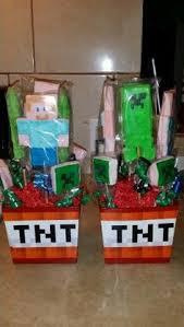 Minecraft Party Centerpieces by Minecraft Centro De Mesa Baleiro Candy Candy Machine Decorados