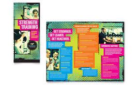 health club u0026 fitness center pamphlet templates word u0026 publisher
