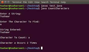Count Characters Ubuntu Java Program To Count Occurrence Of Character In String Codingalpha