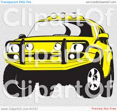 jeep transparent background royalty free rf clipart illustration of a yellow jeep suv with a