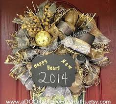 New Years Eve Door Decorations by 10 Best Wreaths New Years Images On Pinterest Wreath Ideas