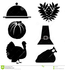 dinner silhouette six silhouettes for thanksgiving day stock illustration image