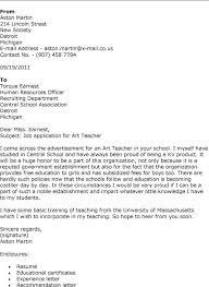 how to write a cover letter for an art teaching position letter