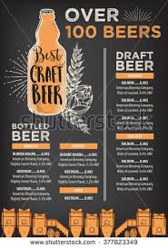 beer restaurant brochure placemat alcohol menu stock vector
