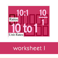writing ratios for real world situations worksheets