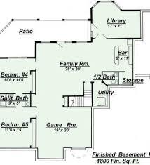 Finished Walkout Basement Floor Plans Plans With Walkout Basement Ranch Floor Plans With On Walk Out