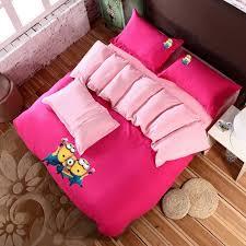 Minecraft Bed Linen - 2015 new home textile modern girls 3d pink queen bedspreads set