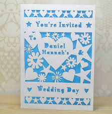 flower and heart laser cut wedding invitation by sweet pea design