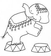 coloriage dun éléphant du cirque  Tête à modeler