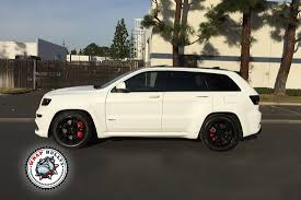 custom jeep white jeep srt wrapped in 3m satin white wrap wrap bullys